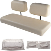 Club Car DS 1982-2000.99 Replacement Front Seat - White Cushions