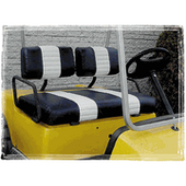 Navy and White Premium Vinyl Front Seat Covers - All Models