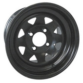 "12""x7.5'' Rhox Black 8 Spoke Steel Golf Cart Wheel"