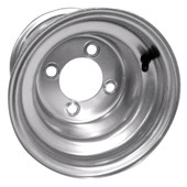 "8"" Steel Silver Golf Cart Wheel with Offset"