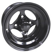 "10"" RHOX Indy Black Golf Cart Wheel"