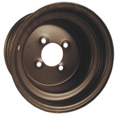 "10""x7"" Steel, Black, Standard Golf Cart Wheel"