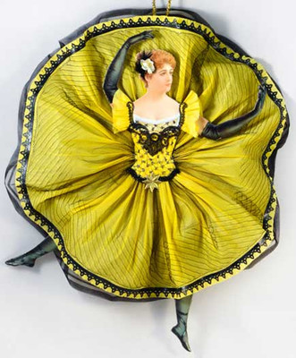 Reserved for Mike -Breathtaking Dancing Yellow & Black Ballerina
