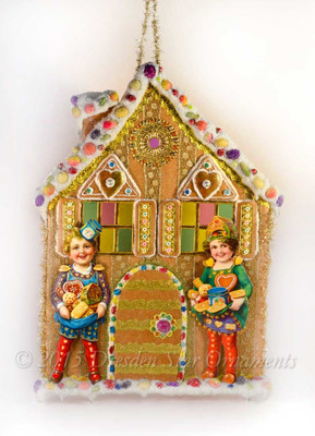 Reserved for Dennis- Hansel and Gretel on Elaborate Gingerbread House