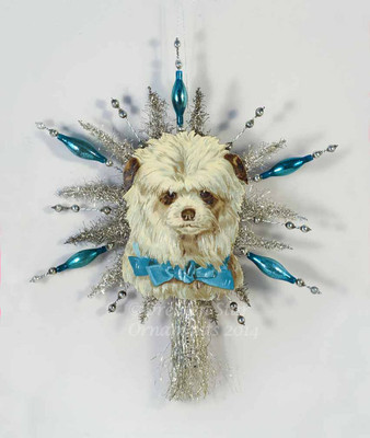 Reserved for Ellen - Shaggy Dog Tree Topper