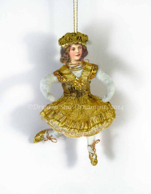 Dainty Cotton Dancer with Gold Ribbon Dress