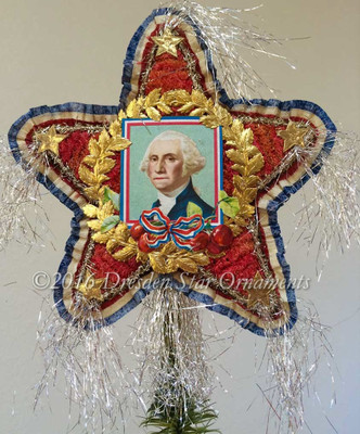 Reserved for Brenda – Two-sided Patriotic Tree Topper with Washington and  Lincoln