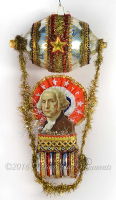George Washington in Spectacular Patriotic Dirigible