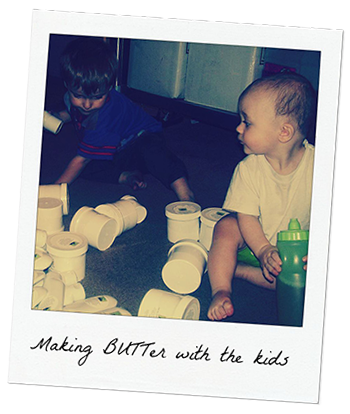 Making BUTTer with the kids
