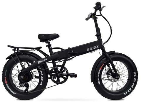 Elux Electric | Sierra Folding Bike | 2018 | Matte Black | No Rack