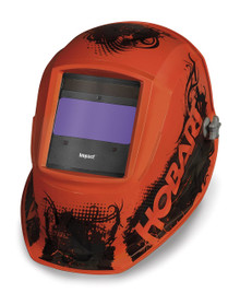 HOBART Impact Series Agent Orange Auto-Darkening Variable Shade Welding Helmet