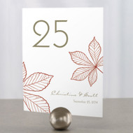 Autumn Leaf Table Number Cards (Set of 12)