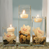 White or Ivory Floating Candles {Set of 3}
