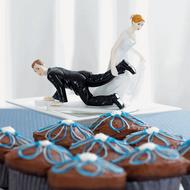 """Bride """"Having the Upper Hand"""" Cake Topper"""