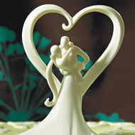 Stylish Embrace Cake Topper