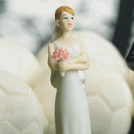 Exasperated Bride Cake Topper