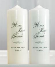 Honor Love Cherish Personalized Unity Candle