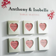 Mini Magnet Heart Photo Frames (Set of 3)
