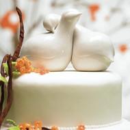Contemporary Love Birds Cake Topper