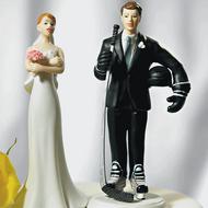 Hockey Groom Cake Topper (with Optional Bride Cake Topper)