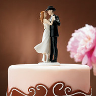 """A Sweet Western Embrace"" Cake Topper"