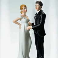 """""""Expecting"""" Bridal Couple Topper"""