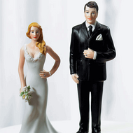 """""""Curvy and Burly"""" Cake Topper Set"""