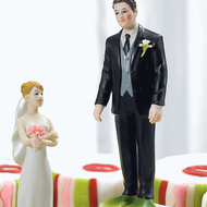 """""""Almost Perfect ..."""" Frog Prince and Bride Cake Topper Set"""