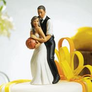 Basketball Dream Team Couple Cake Topper (Ethnic)