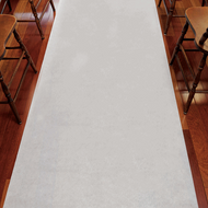 Fabric Aisle Runner in White