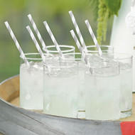 """""""Sippers"""" Candy Striped Paper Straws (Set of 75)"""