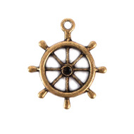 Antique Boat Wheel Charm (Set of 12)