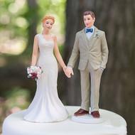 Woodland Rustic Bride & Groom Cake Topper