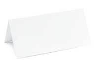 Plain White Place Cards (Set of 50)