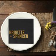 Bold Names Personalized Wedding Napkins | Wedding Reception Napkins