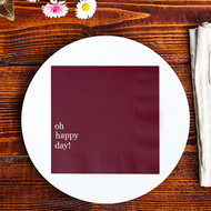 oh happy day! Custom Wedding Napkins | Wedding Reception Napkins