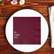 oh happy day! Custom Wedding Napkins | Wedding Reception Napkins