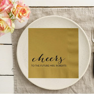 cheers to the FUTURE MRS. {Last Name} Personalized Bridal Shower Napkins | Bridal Shower