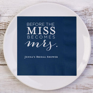 Before the MISS Becomes mrs. Personalized Bridal Shower Napkins | Bridal Shower