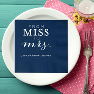 Personalized FROM MISS TO mrs. Bridal Shower Napkins | Bridal Shower
