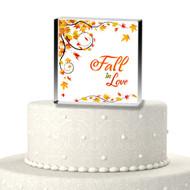 Fall in Love Acrylic Cake Top