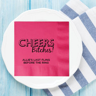 CHEERS Bitches! Personalized Bachelorette Party Napkins