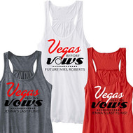 Vegas Before Vows Personalized Flowy Racerback Tank | Bachelorette Party Tank
