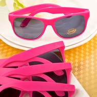 Perfectly Plain Hot Pink Plastic Sunglasses