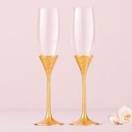 Classic Gold Romance Toasting Flute Set