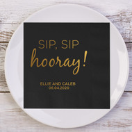 SIP, SIP hooray! Personalized Wedding Napkins | Wedding Reception Napkins