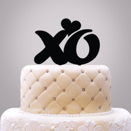xo {with Heart} Acrylic Cake Top
