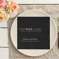 POP.FIZZ.CLINK Personalized Napkins | Wedding Reception Napkins