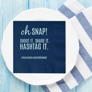 oh SNAP! Custom Hashtag Napkins | Wedding Reception Napkins