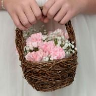 Petite Rattan Flower Basket